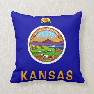 Almohada de la bandera de Kansas