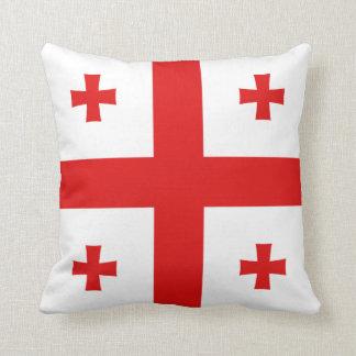 Almohada de la bandera de la bandera x de Georgia