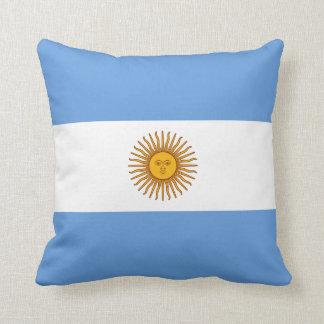 Almohada de la bandera de la bandera x de la Argen
