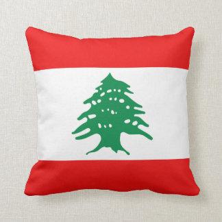 Almohada de la bandera de la bandera x de Líbano Cojín Decorativo