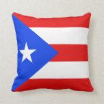 Almohada de la bandera de la bandera x de Puerto R