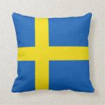 Almohada de la bandera de la bandera x de Suecia