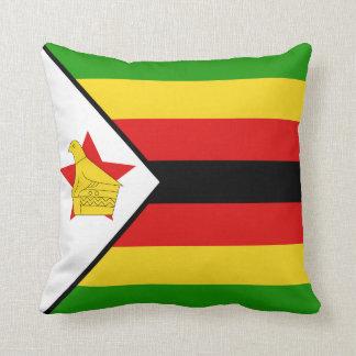 Almohada de la bandera de la bandera x de Zimbabwe Cojín Decorativo