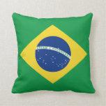 Almohada de la bandera de la bandera x del Brasil