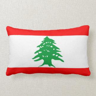 almohada de la bandera de país de Líbano Cojín Lumbar