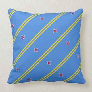 """Almohada de la bandera de Paul McGehee """"Aruba"""""""