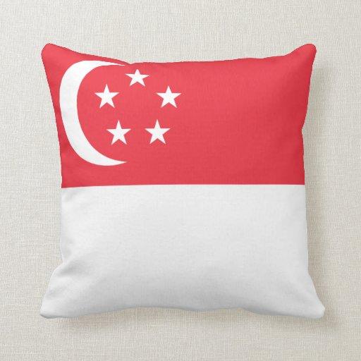 Almohada de la bandera de Singapur