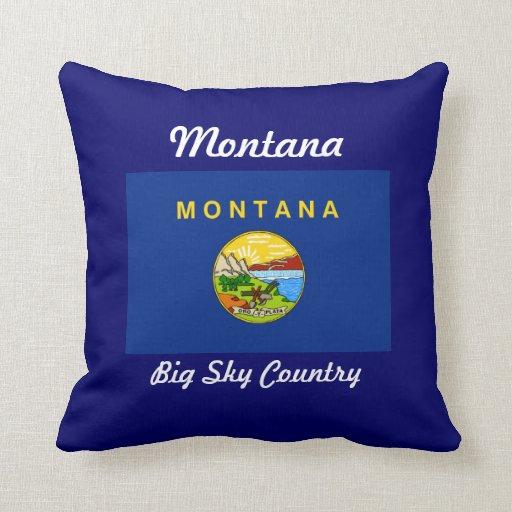 Almohada de la bandera del estado de Montana