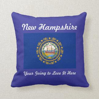 Almohada de la bandera del estado de New Hampshire