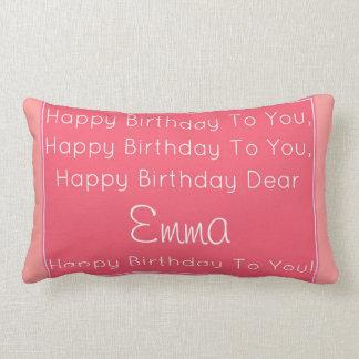 Almohada de la canción del feliz cumpleaños