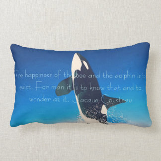 Almohada de la cita de Jacques Cousteau de la ball