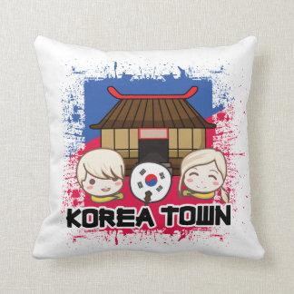 Almohada de la ciudad de Koreatown Corea