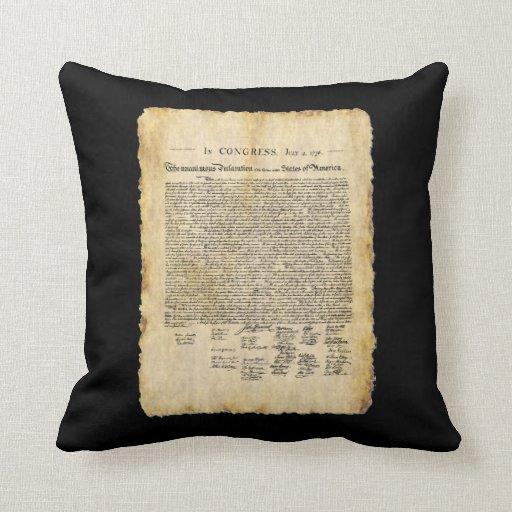 Almohada de la Declaración de Independencia