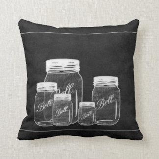 Almohada de la decoración de los tarros de albañil
