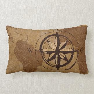 Almohada de la decoración del mapa de Viejo Mundo