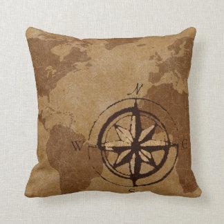 Almohada de la decoración del mapa de Viejo Mundo Cojín Decorativo