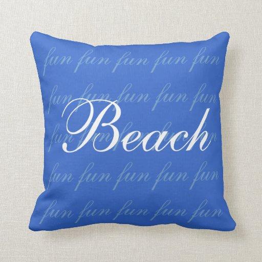 Almohada de la diversión de la playa cojín decorativo