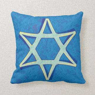 Almohada de la estrella de David Cojín Decorativo