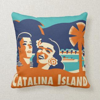 Almohada de la etiqueta del equipaje de la isla de