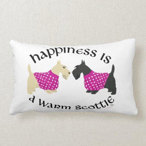 Almohada de la felicidad de Terrier del escocés