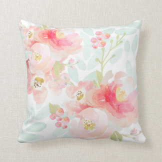 Almohada de la felpa del rosa de la floración de