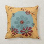 Almohada de la flor del botón