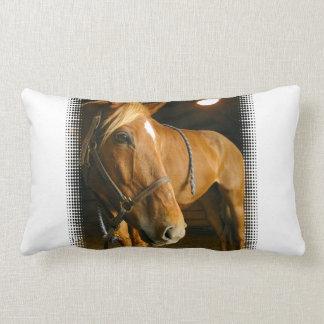 Almohada de la foto del caballo de la castaña