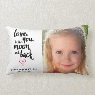 Almohada de la foto del día de madre de la luna y