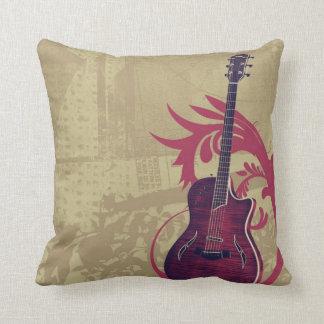 Almohada de la guitarra - estilo del vintage