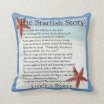 almohada de la historia de las estrellas de mar
