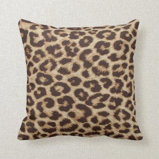 Almohada de la impresión de la piel del guepardo