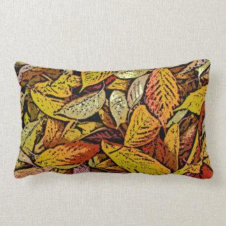 Almohada de la impresión de las hojas de otoño