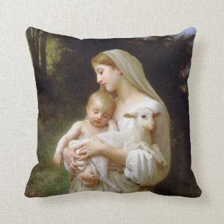 Almohada de la inocencia de Bouguereau Cojín Decorativo