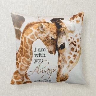 Almohada de la jirafa cojín decorativo