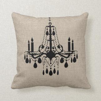 Almohada de la lámpara de la arpillera cojín decorativo