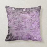 Almohada de la lila del vintage del damasco