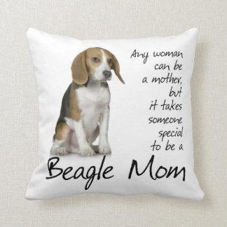 Almohada de la mamá del beagle cojín decorativo