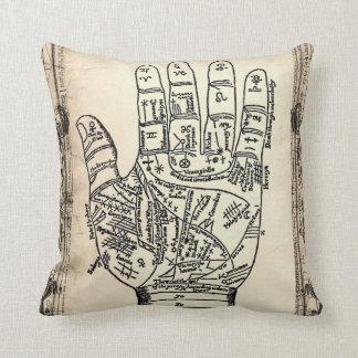 Almohada de la mano del adivino de la quiromancía