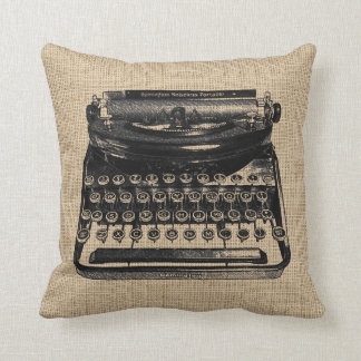Almohada de la máquina de escribir del vintage cojín decorativo