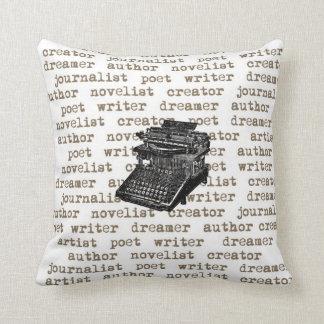Almohada de la máquina de escribir del vintage del