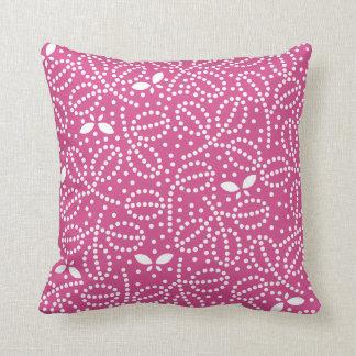 Almohada de la mariposa en Flambe rosado
