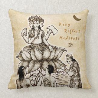 Almohada de la meditación del Brahman Cojín Decorativo