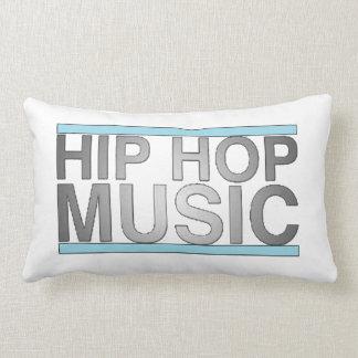 Almohada de la música de Hip Hop (blanco - negro 2