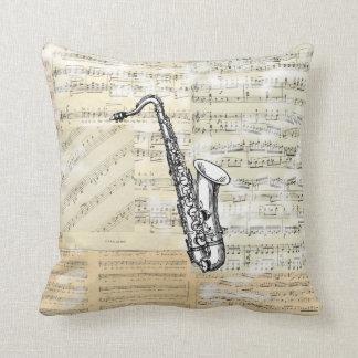 Almohada de la música del saxofón del vintage