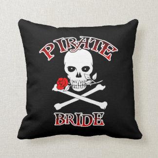 Almohada de la novia del pirata cojín decorativo