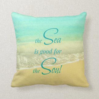 Almohada de la onda de la playa del alma del mar