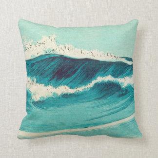Almohada de la onda del japonés del vintage