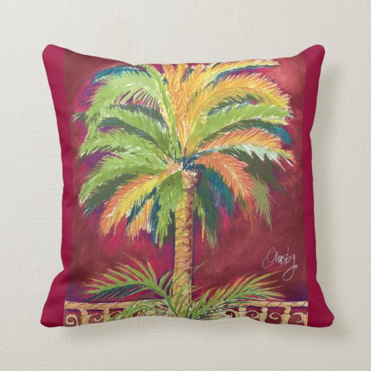 Almohada de la palma real cojín decorativo