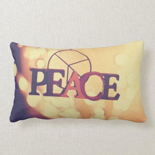 Almohada de la paz cojín lumbar