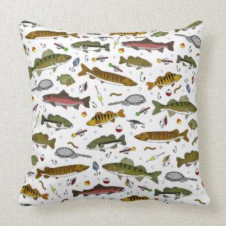 Almohada de la pesca del papá cojín decorativo